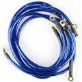 HK * Universal de 5 Puntos Sistema de Puesta A Tierra Cable de Tierra Kit de Auto de Alto Rendimiento Azul