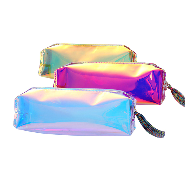 Holographic Transpa Makeup Bag Case Cosmetic Organizer Toiletry Pouch Beauty Storage Handbag Kits Tool