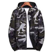 Windbreaker Jackets Men 2018 Military Camouflage Mens Hooded Jackets Coats Both Side Wear Male Zipper Lightweight Bomber Jackets