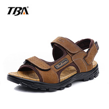 2017 TBA massive dimension sandals summer time males's footwear leather-based seaside footwear out of doors sports activities sandals anti-skid breathable males's  footwear
