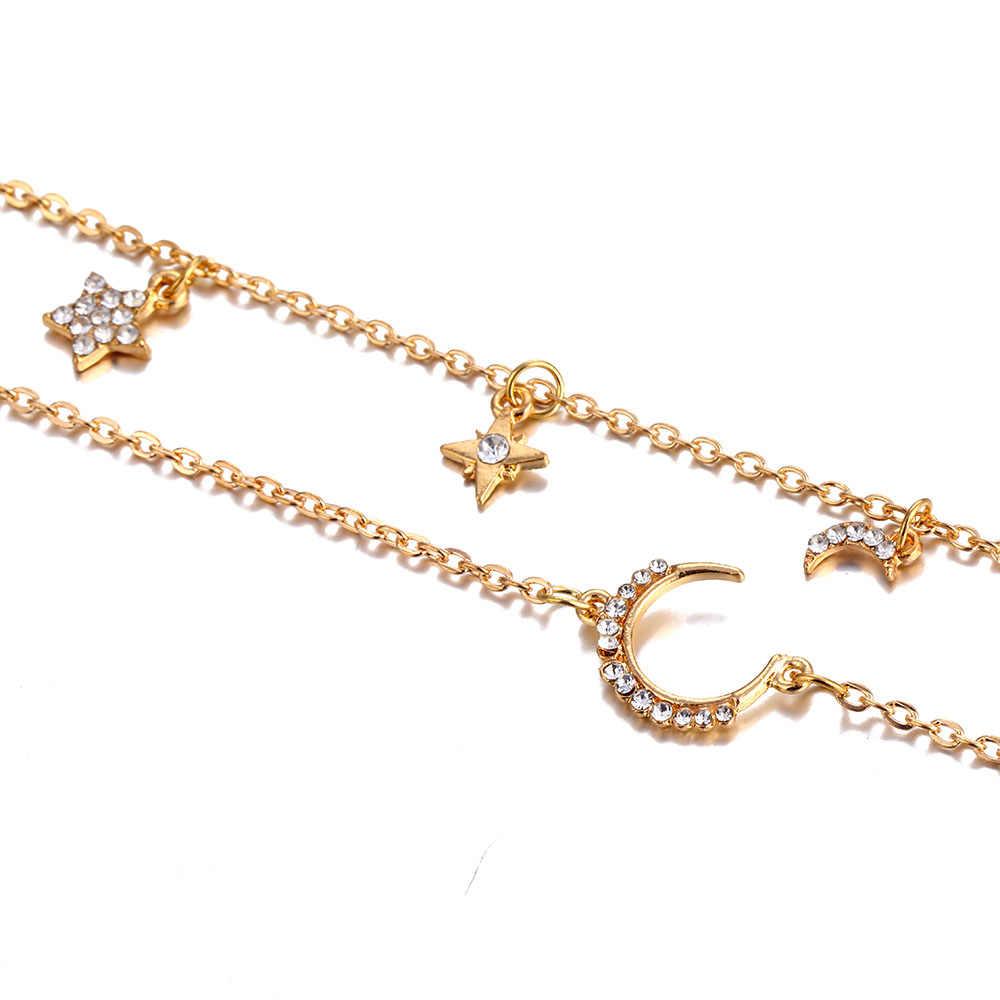 IPARAM женское винтажное многослойное ожерелье-чокер с кристаллами в виде звезды и Луны 2019 богемное ожерелье на шею Электрический вездеход на ДУ вечерние подарки