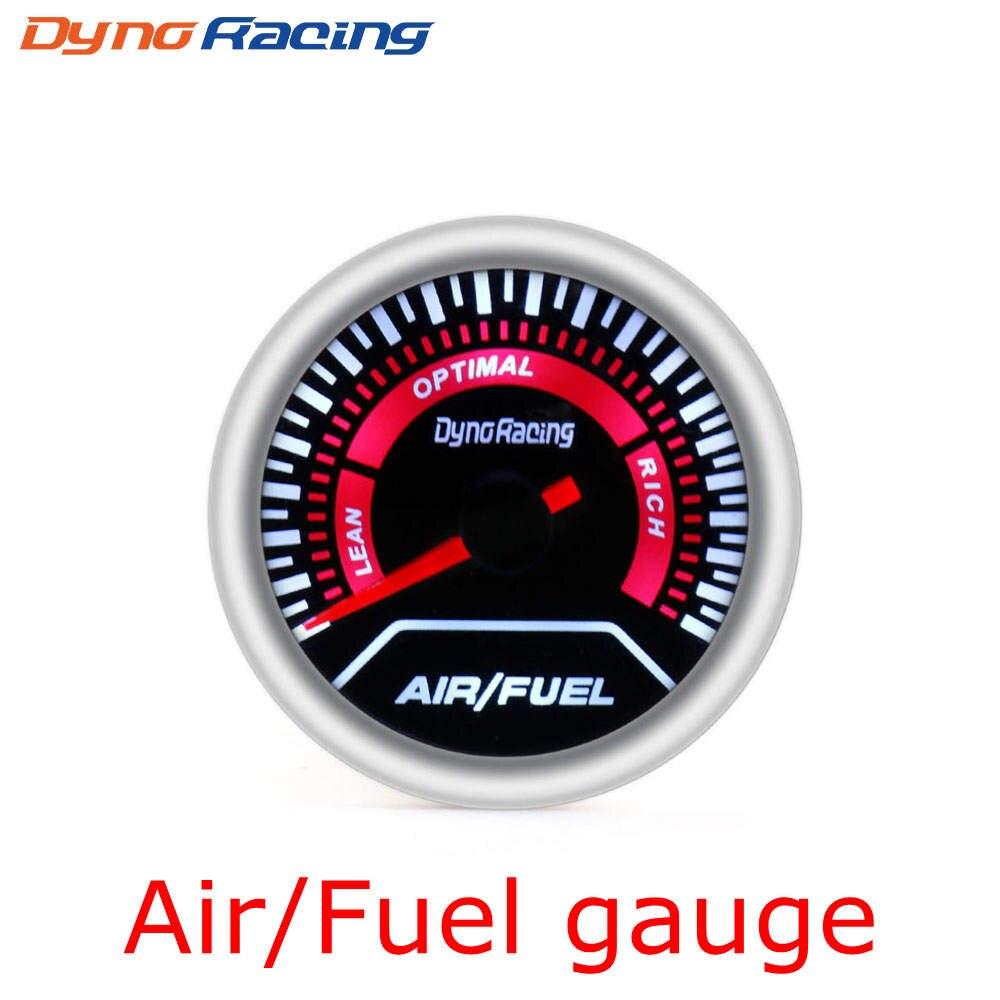 """Dynoracing """" 52 мм Автомобильный манометр бар psi температура выхлопных газов температура воды Температура масла пресс воздуха датчик топлива вольтметр Тахометр - Цвет: Air Fuel Ratio Gauge"""