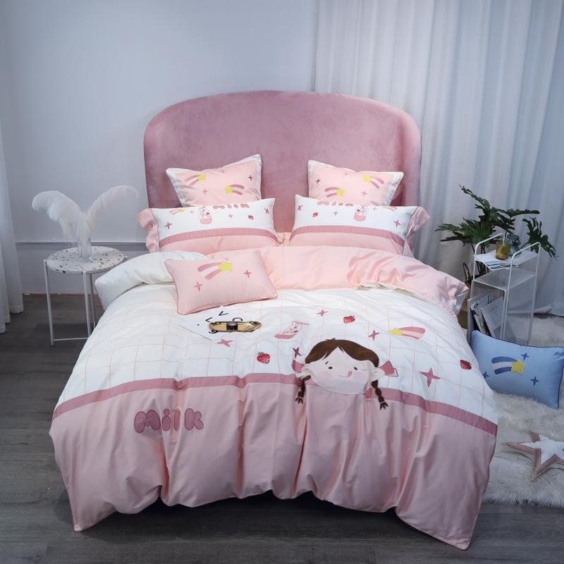 Bedding-Set Pillowcases Duvet-Cover Bed-Sheet Egypt Queen Cotton Cartoon Luxury for Boy