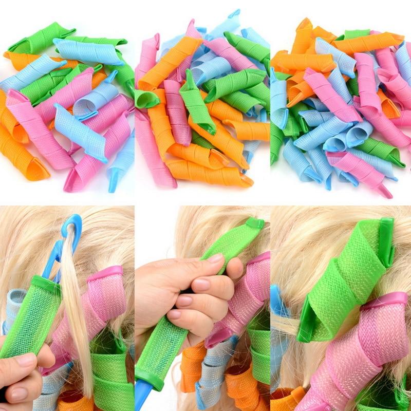 18st hårrullar Styling Curler Tools DIY Natural Way Snabbt och - Hushållsvaror - Foto 2