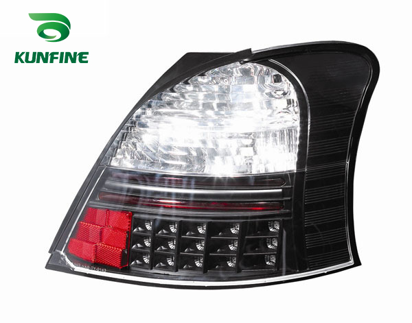 Pair Of Car Tail Light Assembly For TOYOTA Yaris Red and Smoke LED Brake Light With Turning Signal Light