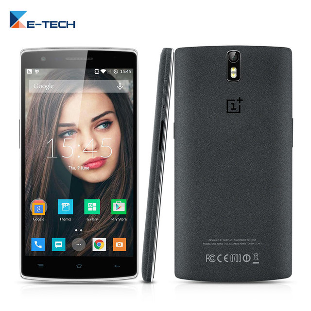 Оригинал Oneplus One Сотовый Телефон Snapdragon 8 Quad Core 13MP 3 Г RAM 64 Г ROM Android 5.0 Мобильный Телефон 5.5 Дюймов 4 Г LTE смартфон