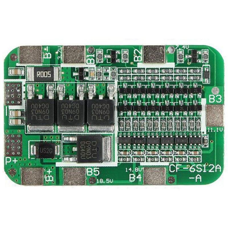 6 s 15A PCB защиты БМС доска для 6 пачек 18650 литий-ионный Батарея ячейки