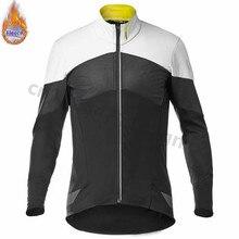 все цены на 2019 New MAVIC Winter Thermal Fleece Men Cycling Jersey pro team Long Sleeve MTB Bike Clothing Keep Warm Maillot Ropa Ciclismo онлайн