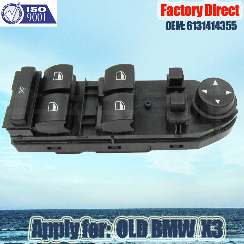 Factory Direct Auto Power Window Switch Apply for BMW X3 LHD window lifter switch Driver Window Mirror Switch Left 6131414355