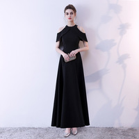 Large Size Black Women Sexy Halter Banquet Dress XS 3XL Summer Elegant Slim Evening Party Gowns Noble Bodycon Gown Vestidos
