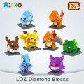 Loz pokemon pikachu figura modelos building blocks crianças diamante tijolo brinquedo educativo para as crianças amigos adultos brinquedo educativo