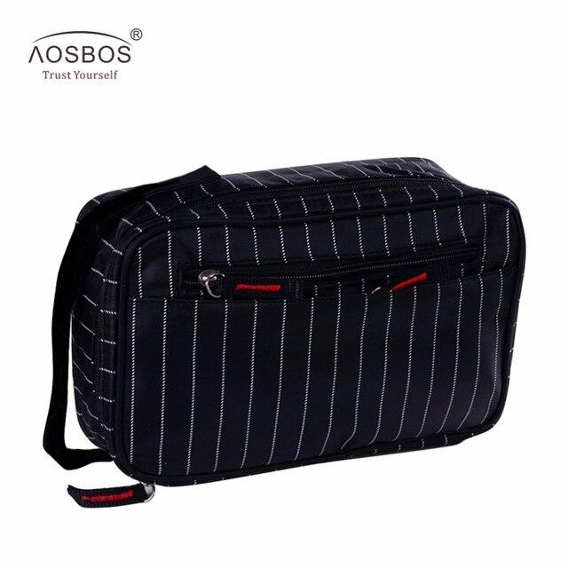 fb246bd935 Aosbos New Men Multifunction Striped Waterproof Toiletry Bag Portable  Travel Cosmetic Organizer Bag Men Zipper Wash Bag For Male