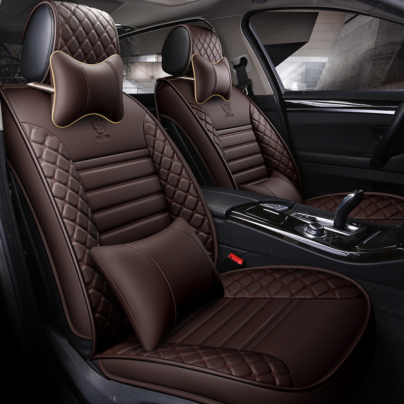 Housses de siège auto en cuir synthétique polyuréthane pour dacia duster hyundai creta lada kalina mercedes w211 nissan qashqai accessoires auto