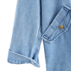 Image 4 - Bella Filosofia autunno inverno Pulsante Up Delle Signore Delle Donne Del Denim Giacca con Cappuccio 2 Piece 3XL Jeans Femminili Più Il Formato Delle Donne cappotto