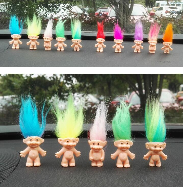 5pcs lot Colorful Hair Troll Doll Family Members Daddy Mummy font b Baby b font Boy