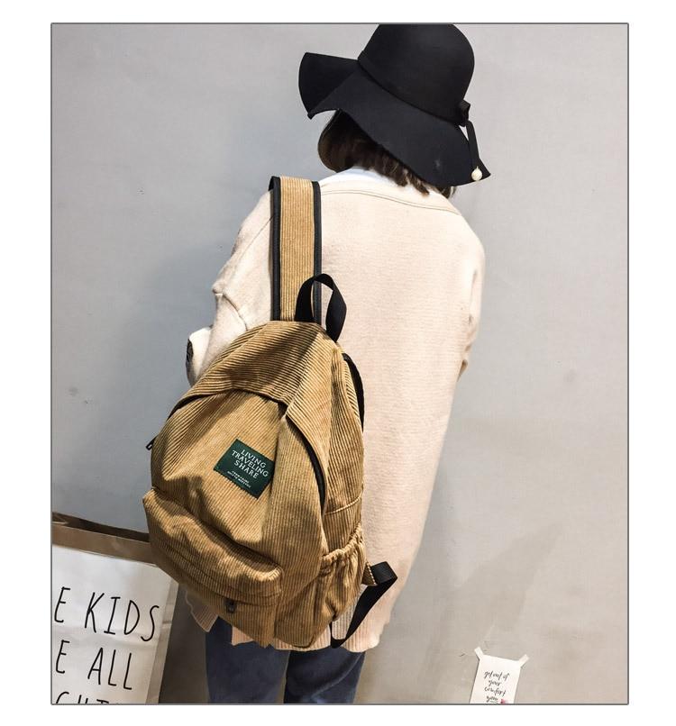 HTB14eIPc56guuRkSnb4q6zu4XXab Women Striped Corduroy Backpack Female Eco Simple Cloth Bag Large Capacity Vintage Travel Bags School Backpack for Teenage Girls