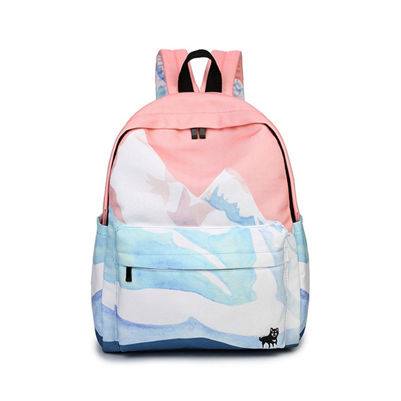 Canvas Backpack female Students School Bag For Teenage Girls Women Printing Backpack For Laptop SchoolBag Cartoon Rucksack