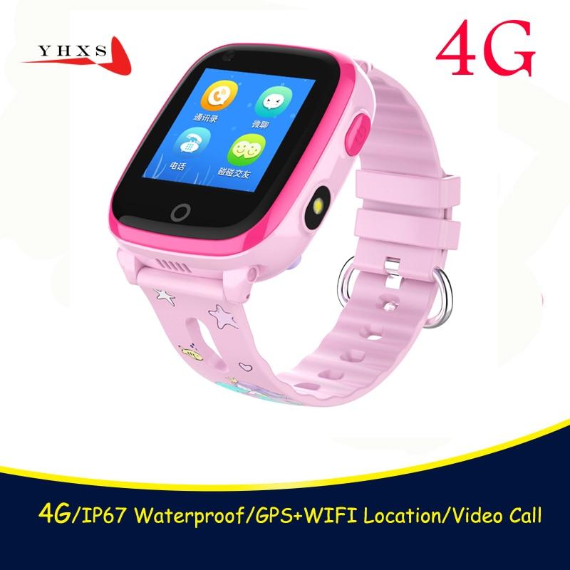 IP67 Étanche Smart 4g À Distance Caméra GPS WI-FI Enfants Enfants Étudiants Montre-Bracelet SOS Appel Vidéo Moniteur Tracker Emplacement Montre