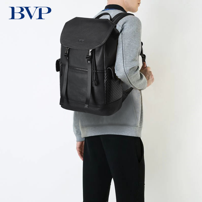 BVP Brand Genuine Leather Backpack Men Waterproof Male Travel Shoulder Bags 15 6 inch Laptop Backpacks