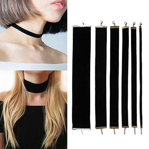 Bluelans Women Lady Black Velvet Choker Gothic Necklace Simple Retro Jewelry Xmas Gift