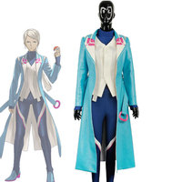 Cosplay Japanese anime pokemon Blue team captain suit Cos Clothes