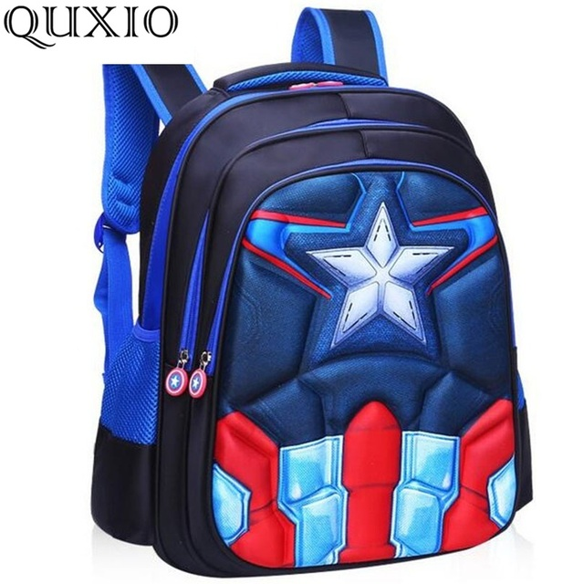 Children s Backpack Boys Captain America School Bags For Boys Girls  Children Primary Students Superhero Backpacks 4 Styles LZ01 d112d9c19c5ec