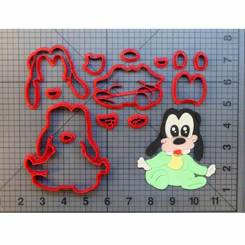 لطيف الطفل جوفي قاطعة البسكوت مجموعة مخصص 3D المطبوعة كعكة الديكور أدوات فندان كب كيك أعلى مكملات مطابخ قوالب