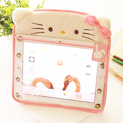 1 Pc Cute Cartoon Plush Case Stand Cover Case For Tablet Pc Case Fundas Coque 9.7 Inch.Home Decor.6 Colors Pc Cover