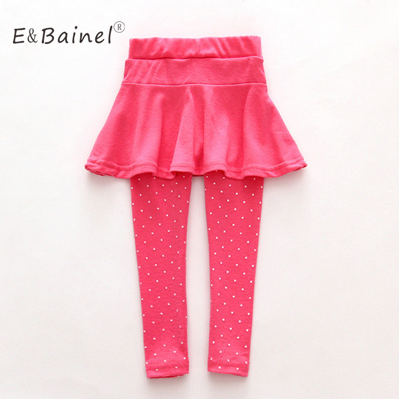 Girls Skirt Pants Spring Autumn Girls Leggings with Skirt Girls Clothes Children Kids Trousers Leggings Pants For Girl girls single breasted raw hem skirt