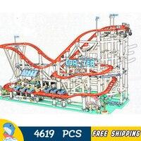 4619 шт создатель парк развлечений ролик с электроприводом модель американских горок строительные блоки 15039 сборные игрушки Совместимость с