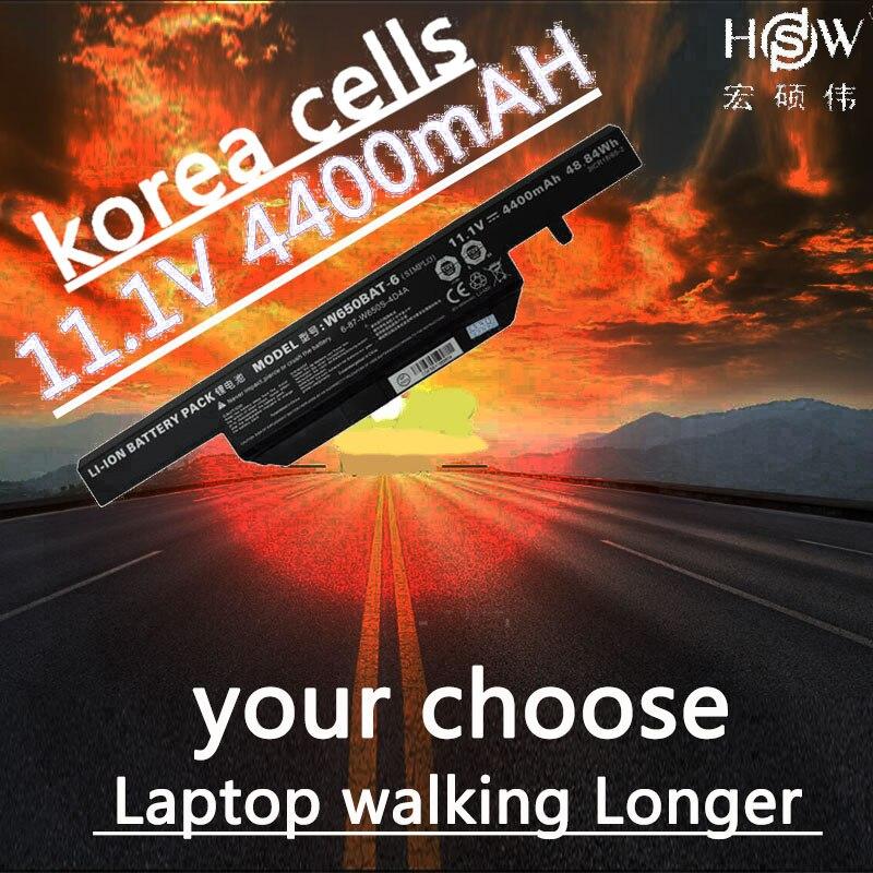 A HSW 11.1 V 4400 mAh bateria para K610C W650BAT-6 48.84Wh K650D K570N K710C K590C K750D bateria akku