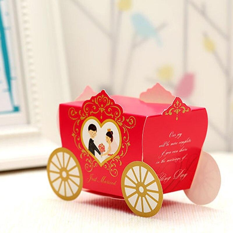 50 шт. красные, синие невесты и жениха мультфильм автомобиль лазерная резка свадьбы пользу Коробки подарок Коробки конфет Baby Shower Свадебная в...