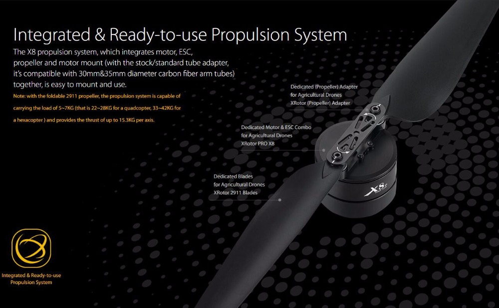 Hobbywing X8 Power System for Agricultural Drones FOC power Integrated Power Combo