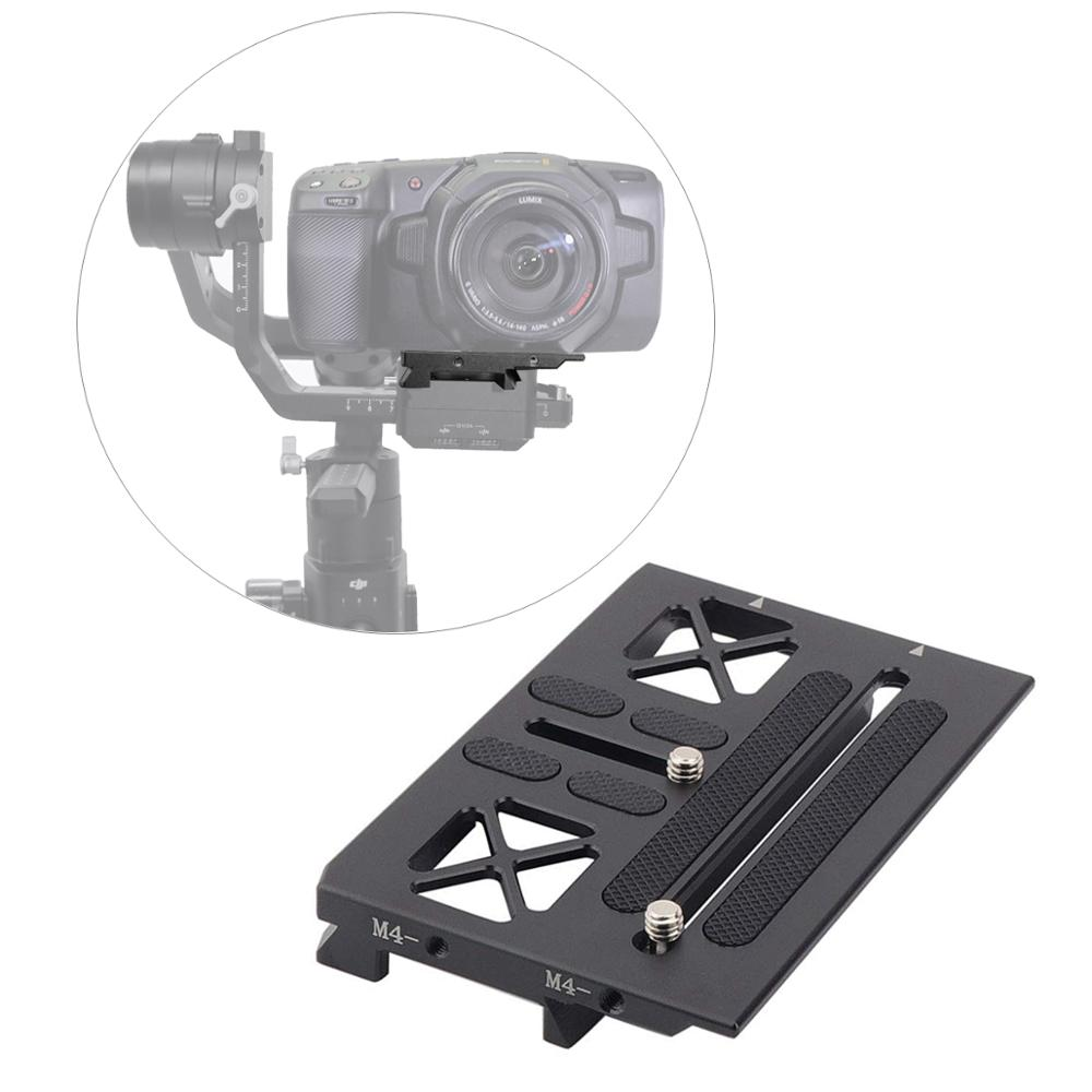 Ronin S Gimbal Mounting Offset Plate For BMPCC 4K Blackmagic Mount For DJI Ronin S Gimbal Quick Release Plate Accessories
