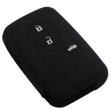 Car Silicone for Toyota kamimizu Land Cruiser Camry Highlander Crown Prado Prius Car Keychain case flip jacket Cover case remote
