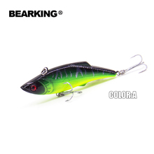 BearKing Hot model 2015 5pcs/lot  fishing tackle A+ fishing lures, 5 Mixed colors,vib(lip less) 74mm 13g  sinking ,free shipping