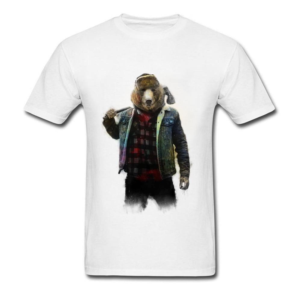 Styling Blizzard Bear T Shirt Art Design T-Shirt Men Crew Neck Tshirt Cotton Student Short Sleeve Summer Tops Free Shipping