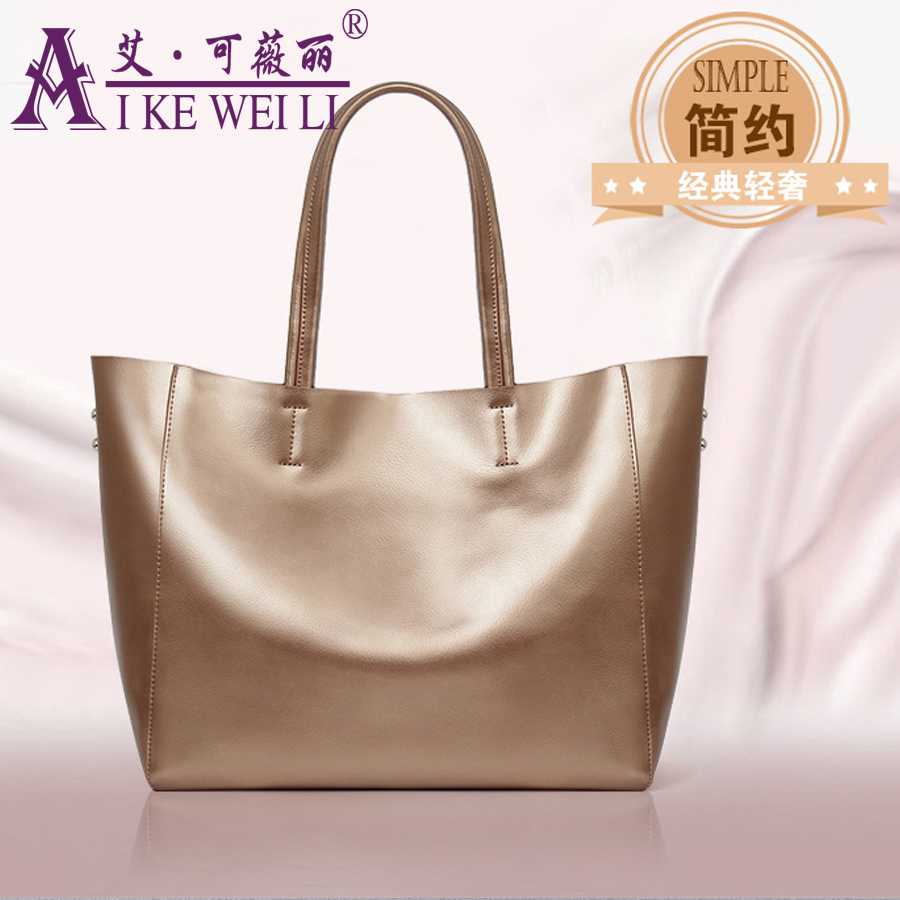 2018 Fashion Good Quality Genuine Leather Wome Handbag Brief cowhide Large Capacity Bag Large Capacity Handbags