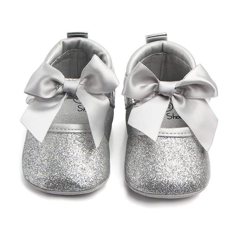 Infant Girls Shoes Soft First Walkers Velvet Princess Style Baby Bow-knot Baby Shoes