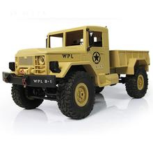 RC Truck 1/16 2.4G WPL USA Military Off Road Vehicle Remote Simulation Of Machine Vehicle Climbing Car Toys for boys