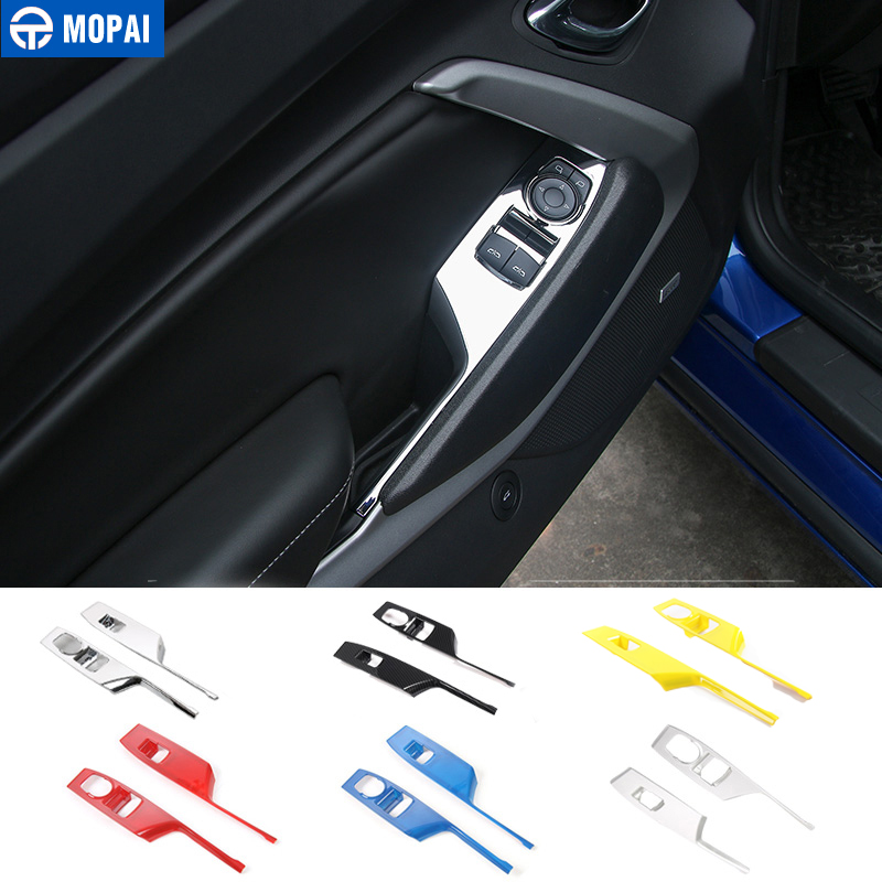 MOPAI ABS Car Interior Window Lift Button Panel Decoration Cover Stickers for Chevrolet Camaro 2017 Up Car Accessories Styling executive car