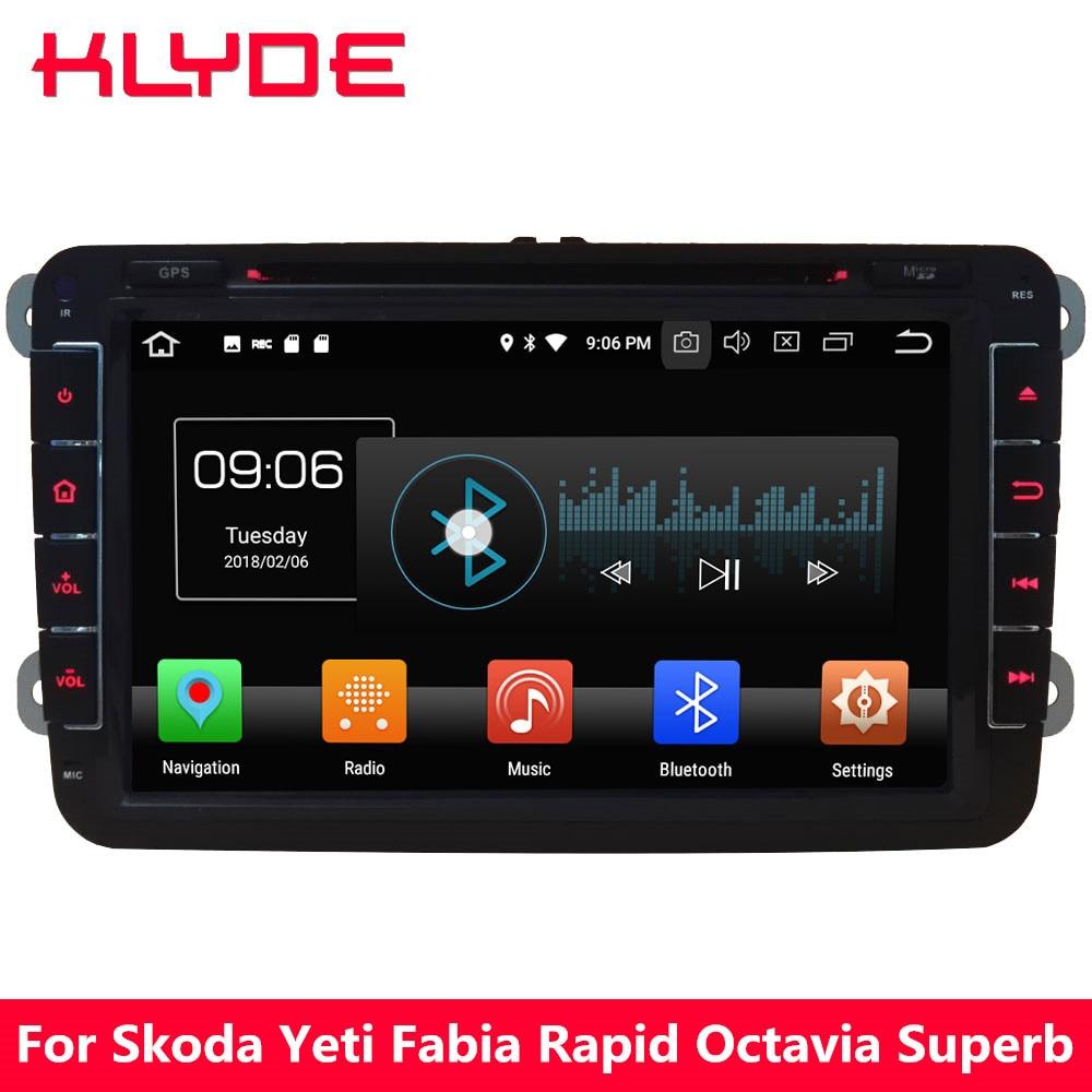KLYDE 4G WIFI Octa Core Android 8.0 4GB RAM 32GB ROM Car DVD Player Radio For Volkswagen Amarok/Seat Leon Altea Toledo Alhambra цена