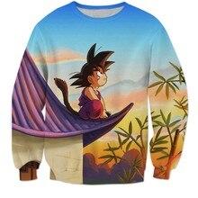 NEUE Klassische Anime Dragon Ball Z Sweatshirt Langarm Oberbekleidung Männer Hipster 3D Sweatshirt Super Saiyan Goku Crewneck Pullover