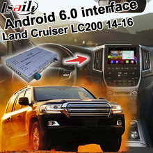 Android 6.0 de navegación GPS box para Land Cruiser LC200 14-16 interfaz de vídeo, etc con GVIF LVDS screen cast