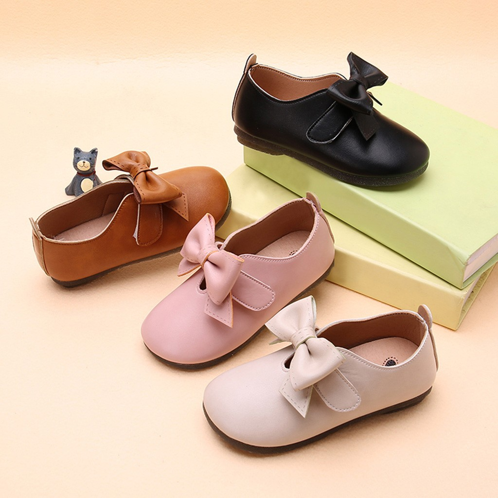 Kids Baby Girls Fashion Princess Cat Dance Nubuck Leather Single Casual Shoes