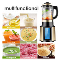 High Power Stronge Baby Food Supplement Machine Glass Cup Blender Food Mixer 48000r/min Fast Juice Maker Juicer Heat Cooker