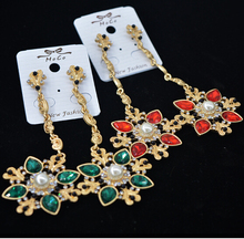 Free Shipping! Fashion Luxury Brand Vintage Full Crystal Flowers Drop Dangle Statement Earrings For Women Party Jewelry