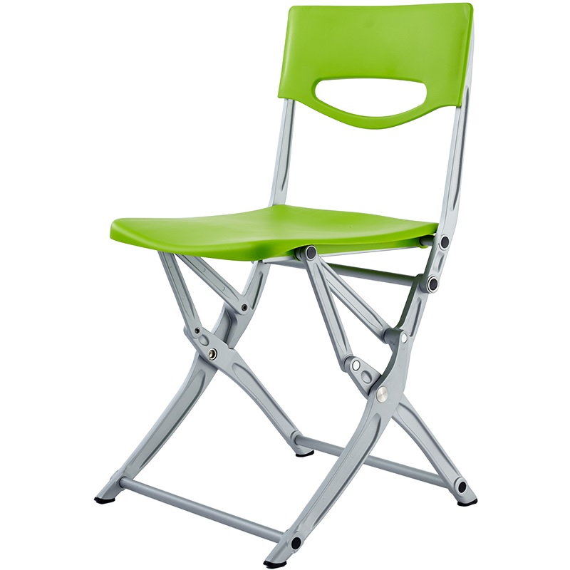 Plastic Folding Chair With Sturdy Casting Aluminum Frame 4.7kg/ Easy To Clean Of Nylon Seat/ Rubber Feet/ Outdoor And Indoor Use