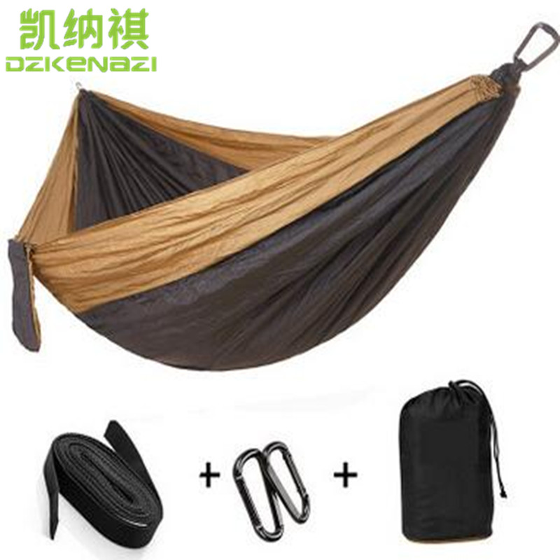 где купить Two-person 275 x 140 CM High Strength Camping 210T Parachute Hammock Hanging Bed по лучшей цене