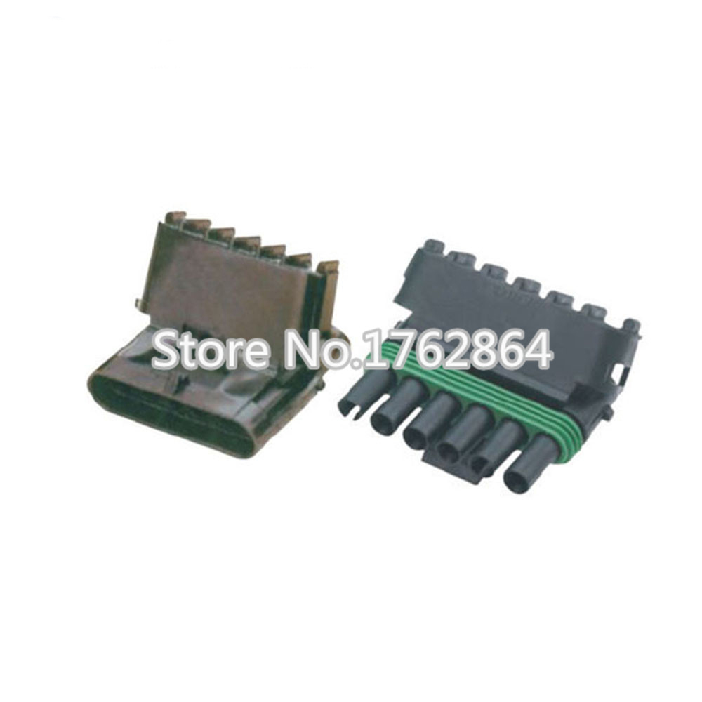 N50 Set 6 Pin Dj3061y 25 11 21 Female Male Weather Pack Electrical Wiring A Plug 50 Wire Connector Sealed Automobile Connectors
